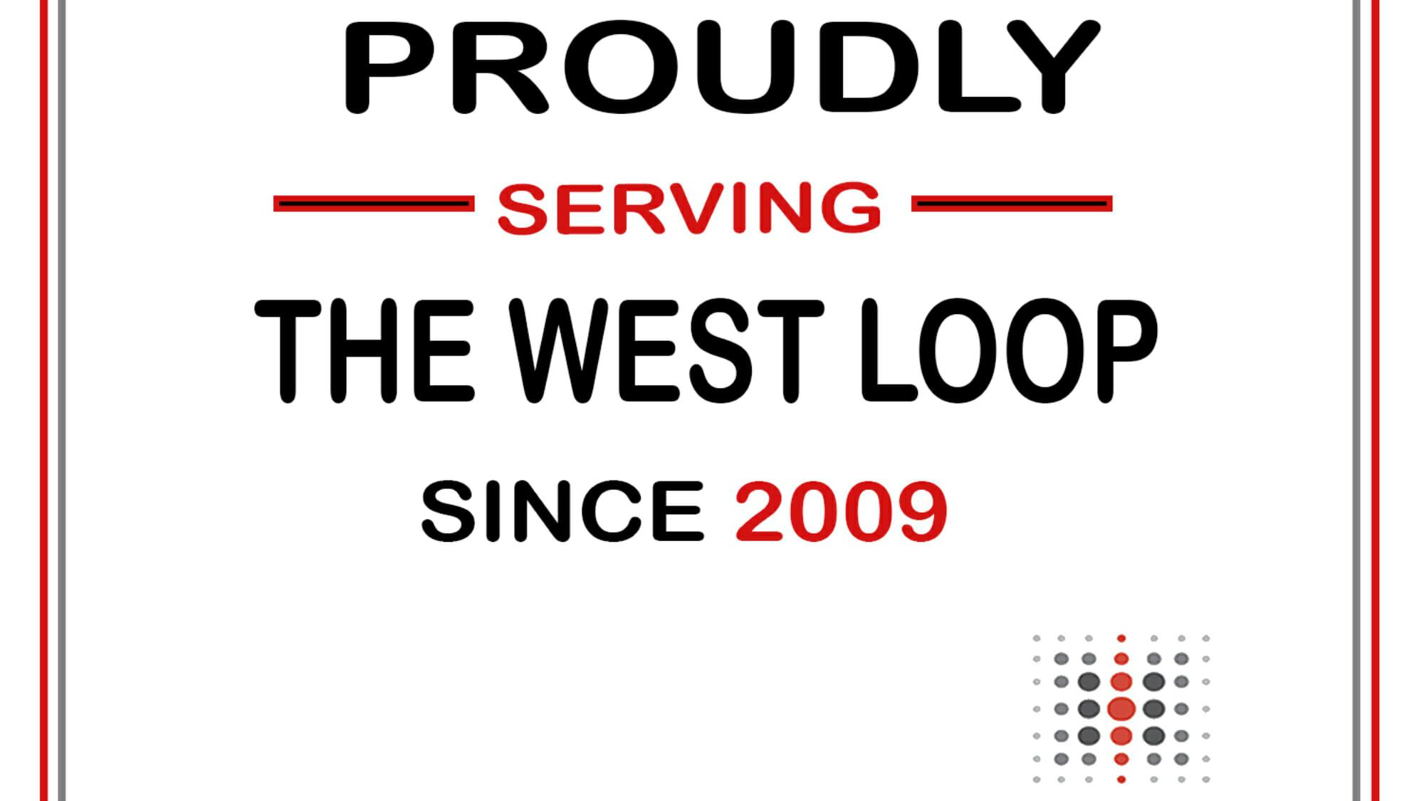 west loop sign 1